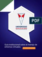 Guía institucional sobre el manejo de entornos virtuales