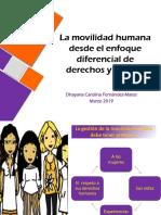 La movilidad humana desde el enfoque diferencial de derechos y género-Dhayana Carolina Fernández-Matos