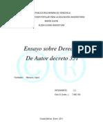 Derecho de Autor Decreto 351