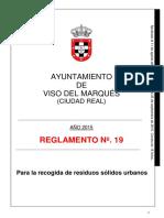 20160608_REGLAMENTO Nº 19, Para la Recogida de Residuos Solidos Urbanos