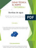 BOMBAS DE AGUA. GRUPO 2