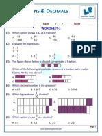 Fractions & Decimals printable worksheet.pdf