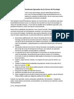 Manifiesto de Estudiantes Egresados de la carrera de Psicología