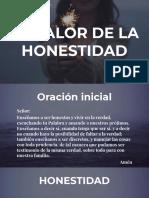 EL VALOR DE LA HONESTIDAD