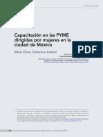 Capacitación en las PYME dirigida por mujeres en la cuidad de Mexico