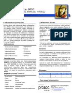 Ficha tecnica - Serie 6000
