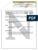 GUÍA DE ENSAYO - VARIABILIDAD DIMENSIONAL