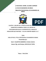 CONTROL Y MEJORA DE LA PRODUCTIVIDAD DEL ACARREO Y TRANSPORTE DE MINERAL (importante)