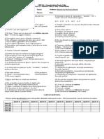 Teste 1-B 1a série Médio (3o Bimestre)