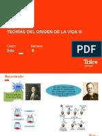 BIO- 2DO AÑO- ORIGEN DE LA VIDA III -SEMANA 9