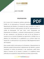 Proposición Bancada Atlantico Firmada