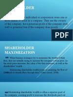 Shareholder Maximization ppt