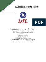 ITI902 ACTIVIDAD 1.2 ZUÑIGA VAZQUEZ DIRECCIÓN ORGANIZACIONAL DE PROYECTOS
