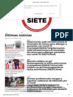 Ultimas Noticias - Diario Pagina Siete