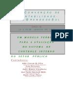 Um modelo teórico para avaliação do controle interno do setor publico