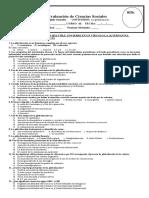 Evaluación final CS 10° IV periodo