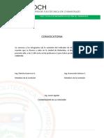 Conocatorias y Actas Comisión Academia Marzo