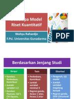 10 - Beberapa Model Riset Kuantitatif