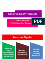 8 - Konstruk dalam Psikologi