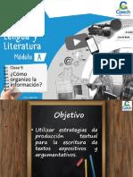 Clase 9 PPT - Cómo Organizo La Información - LL 1A FINAL