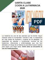 CUARTA  CLASE DE INTRODUCCION A LA FARMACIA. 2020