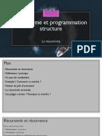 Algorithme et programmation structure - la recursivite