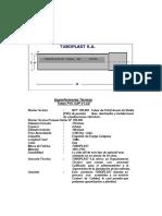 especificaciones tecnicas Tubo PVC SAP
