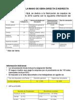 CASO 1 DE MANO  DE OBRA DIRECTA E INDIRECTA
