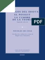 De Cusa, Nicolás. Diálogos del idiota; El possest; La cumbre de la teoría.pdf