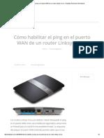 Cómo habilitar el ping en el puerto WAN de un router Linksys Cisco – Helpdesk Soluciones Informaticas