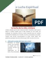 Verdades Fundamentales – Lección 10 – La lucha espiritual