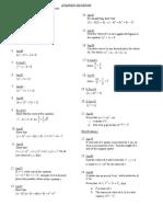 Quadratic Equations CSEC TOPIC