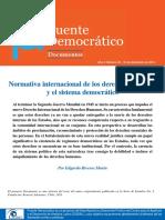 Normativa internacional de los Derechos Humanos y el sistema democratico el caso Chileno - Edgardo Riveros
