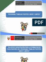 PPPTCD-DREA-TALLER-CAPACITACION-FACILITADORES-FAMILIAS-FUERTES-AMOR-LIMITES