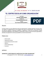 Pérez.Elcentroescolarcomoorganización
