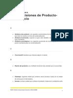 GLOSARIO DECISIONES DE PRODUCTO PRECIO