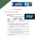 DESARROLLO Evidencia 2  Informe análisis de Cargos Colfrutik
