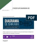 O que é e como fazer um Diagrama de Ishikawa? Exemplo de Diagrama de Ishikawa.