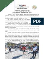 NARRATIVE REPORT ON PROVINCIAL JAMBOREE 2019