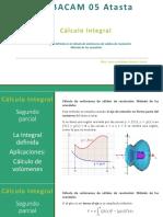La integral definida. Cálculo de volumen de sólidos de revolución. Método de las arandelas