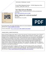 what matters for cultural studies-