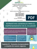 NORMATIVAS GENERALES PARA EL EMPRENDIMIENTO EN EL ECUADOR