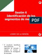 Sesión 6 Identificación de los segmentos de mercado