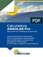 Manual Calculadora Arsolar Pro
