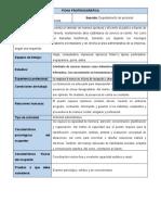 Ejemplo de Ficha Profesiografica