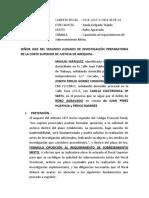 OPOSICION DE REQUERIMIENTO DE SOBRESEIMIENTO - JOSEPH EMILIO GOMEZ CONDORI