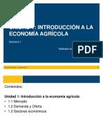 Introducción a la Economía Agrícola