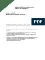 PROGRAMA DE EXÁMEN  PRÁCTICAS DEL LENGUAJE 2°