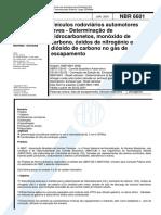 NBR 06601 - 2001 (Determinação de hidrocarbonetos, monóxido de carbono, óxidos de nitrogênio e di