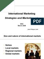 International Marketing - Part 2 -ESG- March 2008